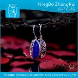 Pendente dei monili del Lazuli di Lapis dell'argento sterlina 925 ed orchidea Serie 1 di Earings