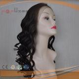 Человеческие волосы отбелили парик Glueless цвета полного шнурка работы узлов естественный