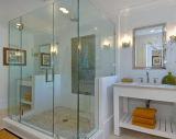Ducha Platos de ducha de vidrio templado de cristal sin marco