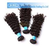高品質のカーリーヘアーのブラジルのバージンの毛