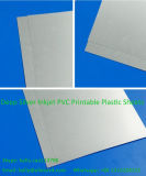 Matériau imprimable de carte d'identification de PVC de plastique de jet d'encre