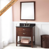 新しいModern Floor -取付けられたSolid Wood Bathroom Vanity、Bathroom Cabinet.
