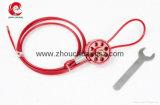 Verrouillage à roues flexible coloré de câble pour la pipe de soupape