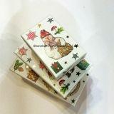 Коробка бумажного рождества упаковывая