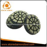 Da transição concreta do assoalho de 3 polegadas almofada de polonês bond cerâmica