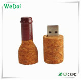 Vara de madeira do USB do frasco novo com logotipo do OEM como o presente relativo à promoção (WY-W56)