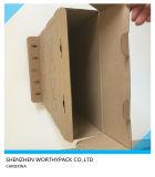 環境に優しいクラフト紙の菓子器かクラフト紙およびE煙道となされる食糧ボックス