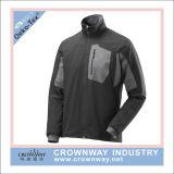 남자 외부 착용 주문 로고 기장을%s 가진 방수 Softshell 재킷