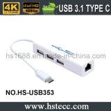 MacBookのためのUSB3.1タイプへの高速USB2.0 Cのハブ