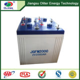 2V2000ah off-Grid Solar System con Storage Gel Battery