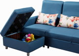 EckSofa Bed mit High Backrest und Storage