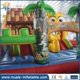 Kind-Spaß-Stadt-Schloss, Karikatur-themenorientierter aufblasbarer Prahler für Kinder