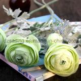 装飾(SF15636)のための2つのヘッドFlockyのRanunculusの人工花
