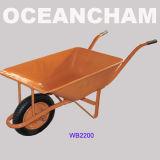 De Verkoopbare Industriële Kruiwagen van uitstekende kwaliteit van het Wiel voor Bouw (WB2200)