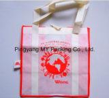 Saco não tecido da promoção dos PP da cópia feita sob encomenda do logotipo para a compra