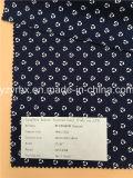 Законченный простирание Twill хлопка/Spandex ткани синее с белой картиной