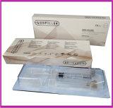 Homologation cutanée de la CE de la Secondaire-Peau 2.0ml de remplissage d'acide hyaluronique d'injections de fesses