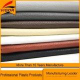 Kundenspezifische graue Farbe Belüftung-Kunstleder für Sofa