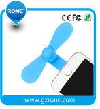 Plástico que refrigera o mini ventilador para o iPhone e o telefone móvel Android