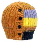 編まれた冬のマルチカラー安いかぎ針編みの帽子