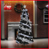 최고 Star Colorful Ornaments 및 Ribbon Decorated Christmas Tree