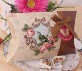 Papierkissen-Kasten/Süßigkeit-Geschenk-Kasten/Schokoladen-Verpackungs-Kasten mit Farbband