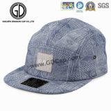 2016 Grande boné de moda de algodão de impressão Blue Snapback Camper Cap