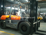 10ton Diesel empilhadeira com espuma de borracha Grampos Fd100t