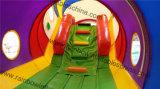 Long obstacle gonflable de tunnel de zoo animal avec la glissière