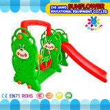 Cour de jeu en plastique molle de glissière de cour de jeu d'ours de forme d'enfants de jardin d'enfants d'intérieur de jouets (XYH12065-4)