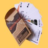 Póker de encargo plástico de las tarjetas que juegan del 100% que hace publicidad del póker