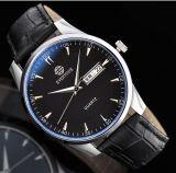水晶動きの革バンドの人のスポーツの腕時計