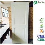 Puerta blanca moldeada HDF barata del tablero aglomerado de la pintura de fondo del precio