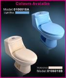 Cabinet d'aisance d'une seule pièce vidant simple de Siphonic de vente chaude de sens de l'eau de porcelaine de Vireous