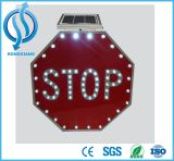 LED de alumínio piscando Alto Solar Road Traffic Sign