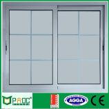 Finestra di scivolamento di alluminio con la griglia