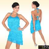 Les performances latines adultes neuves de danse ont frangé la jupe femelle de robe