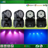 중국제 Best Seller 18PCS LED Mini Moving Head Wash Light
