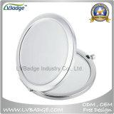 O espelho do estojo compato da etiqueta da lembrança para projeta