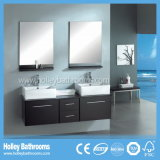 Gabinete de banheiro High-Gloss do espaço de armazenamento da pintura grande (BF119D)