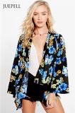 Jupe tissée estampée tropicale de kimono de femmes