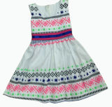 Blume Kids Girl Dress für Childrens Clothes (SQD-101-ORANGE)