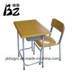 Metall-u. Holz-Kursteilnehmer-Schreibtisch und Stuhl (BZ-0026)