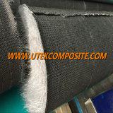 Voile de carbone desserré par couvre-tapis de fibre de verre pour le tube six-partite