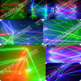 Acht Hoofden 8 RGB Laser die van Ogen het HoofdLicht van de Spin beweegt