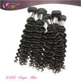 1つの供給のバージンのインドの毛のWeft安い毛の拡張