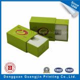 Rectángulo de empaquetado del regalo rígido de papel de la cartulina con el cajón