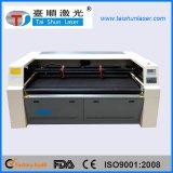 二重ヘッドファブリック織物レーザーの切断の彫版機械