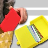Suporte de cartão Eco-Friendly do nome da caixa de cartão conhecido do silicone