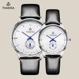 Het Horloge van de Minnaar van het Paar van de hoogste Kwaliteit met Zwart Echt Leer 70005
